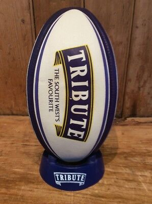 Tribute Rugby Ball & stand