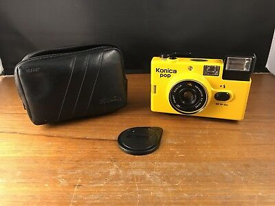 Yellow Konica pop, swinging sixties/seventies camera, not the usual red