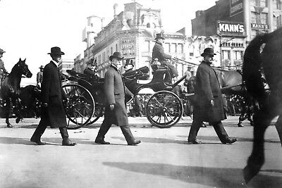 1905-President Theodore Roosevelt in Carriage Pennsylvania Ave on way to Capitol