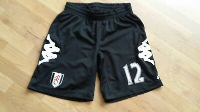 Official 2012/13 Kappa Fulham Football Shorts Size Large With Printed Number 12
