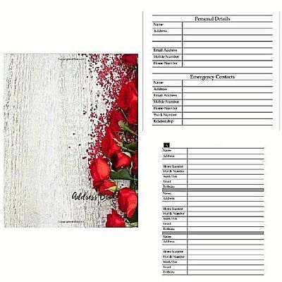 Address & Telephone Book Large Print Journal Notebook Alphabetical Big Paperback