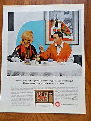 1964 RCA TV Television Ad  on the Tube Joey Bishop Show & Abby Dalton