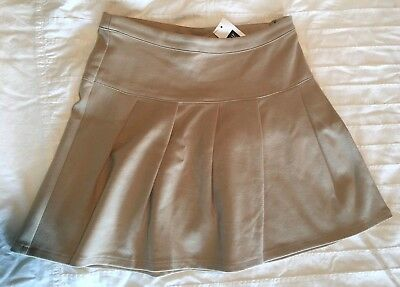 Gap Girls 8 10 / M L School Uniform Pleated Skirt Beige Tan NWT