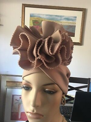 Auto Gele, bow design, church hat, any occasion hat