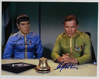 William Shatner Leonard Nimoy Signed Autograph JSA Star Trek Kirk Spock 8.5 x 11