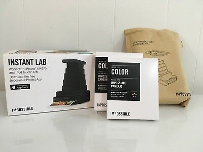 Impossible Project Instant Lab Film Universal Upgrade Kit for iPhone Polaroid