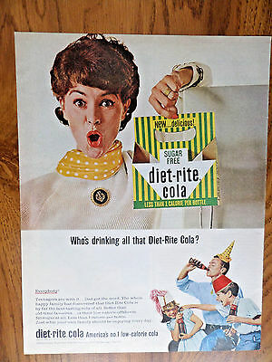1965 Diet-Rite Cola  Ad Who's Drinking? Evereybody  Party Theme