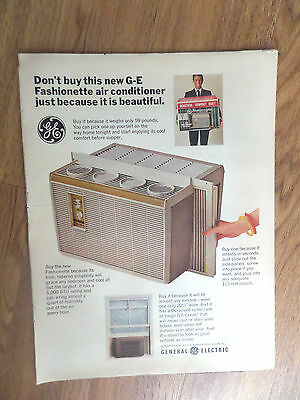 1966 GE General Electric Air Conditioner Ad  Fashionette AC Only 59 Pounds