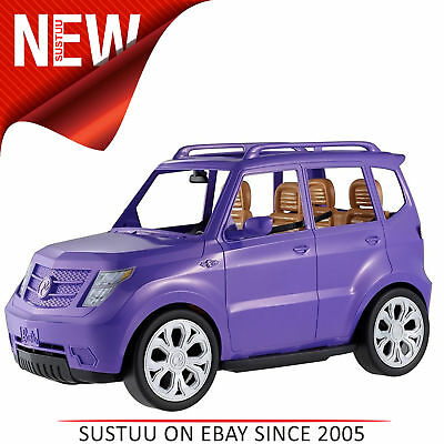 Barbie Glam SUV Toy Car│Doll Vehicle│Funny toy Seats│Open Roof│Purple│3 Years +│