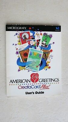 American greetings creatacard plus pc program 849 picclick micrografx american greetings creatacard plus users guide book only graphic m4hsunfo