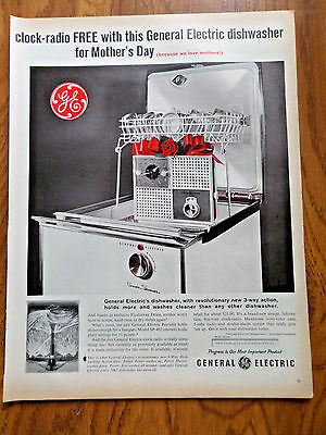 1962 GE General Electric Dishwasher Ad  Mothers Day