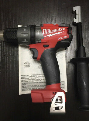 New Milwaukee Fuel 18V M18 18-Volt Brushless Hammer Drill Tool Only 2704-20
