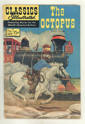 November 1960 CLASSICS ILLUSTRATED #159 THE OCTOPUS western story.NICE ORIGINAL