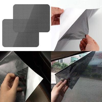 2Pcs Car Auto Side Window Mesh Film Windshield Net Sun Shade Sticker HK