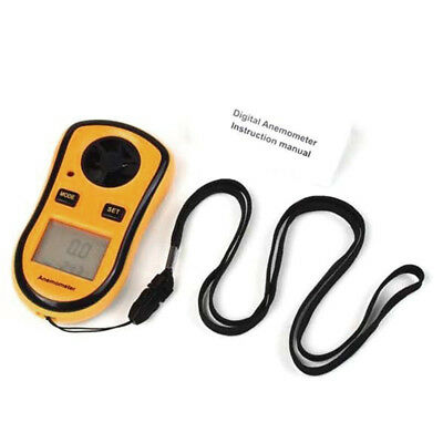 Handheld LCD Backlight Digital Anemometer Thermometer Air Wind Speed Gauge Meter