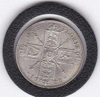 Very  Sharp  1922   King  George  V  Florin  (2/-)  Sterling Silver (50%)  Coin