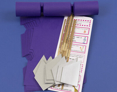 100 Rich Purple Make & Fill Your Own Cracker Kits | DIY Christmas Cracker Crafts