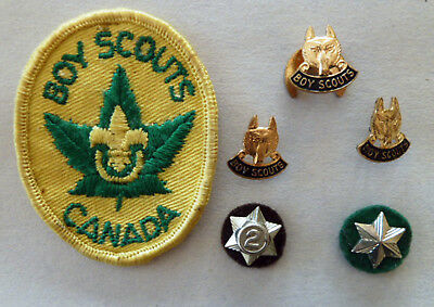 Boy Scouts Patch Scarf Slide Scully Montreal Wolf Pins Felt Service Year Pins C