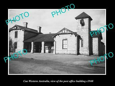 OLD LARGE HISTORIC PHOTO OF CUE WESTERN AUSTRALIA, THE POST OFFICE c1940