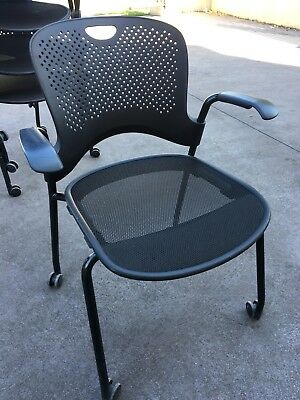 Herman Miller made in the USA Black Stackable  Chairs