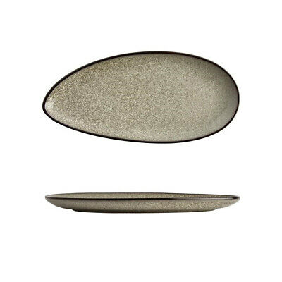 6x Leaf Plate 305mm Olympia Mineral Commercial Crockery Rustic Natural