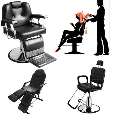 Adjustable Reclining Leather Barber Chair Shampoo Hairdressing Salon Spa Chair