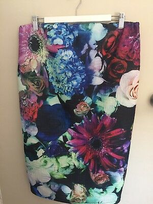 ASOS MATERNITY Size 14 Floral Print Stretch Pull On Skirt