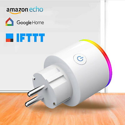 Enchufe Inteligente RGB Control Remoto Inalámbrico Wifi Amazon Alexa/Google Home