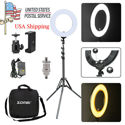 "US 18"" 50W 5500k Dimmable LED Ring Light Stand Kit F Camera Phone Video Shooting"