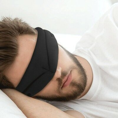 3D Sleep Mask Memory Foam Contoured Eye Mask Cover For Men And Lady Travel