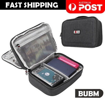 BUBM Electronic Accessories Cable Organizer Travel Bag USB Charger Storage Case