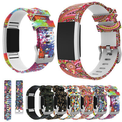 Sports Smart Silicone Watch Strap Bracelet Wrist Band For Fitbit Charge 2 /HR