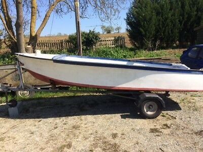 Open Fishing / Day Boat With Mercury 4Hp Outboard Long Shaft Motor