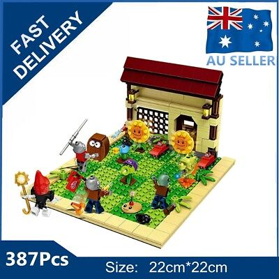 387Pcs Plants VS Zombies Garden Maze Struck Building Blocks Bricks Toys For Kids