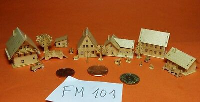 OFFER PFINGSTEN FM101 houses cars animals bridge t-gauge  MONTIERT Germany