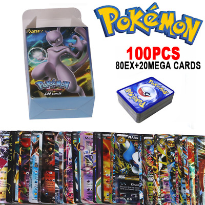 324/100pcs Cards Pokemon TCG Booster Box English Edition Break Point 36Pack Gift