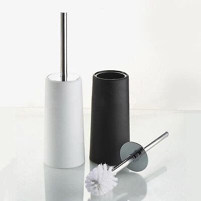 Stainless Steel Bathroom Toilet Cleaning Brush and Holder Free Standing Tool AU