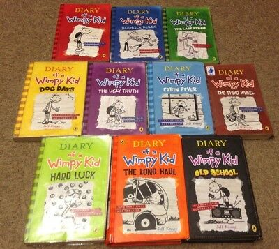 Diary of a Wimpy Kid, by Jeff Kinney: collection of the 10 children's books