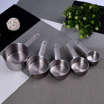5pcs/set Stainless Steel Measuring Cups Spoons Set Home Kitchen Baking Tools Kit