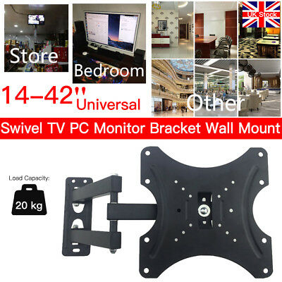 Swivel TV Wall Mount 14 - 42 32 inch LED LCD Bracket for Samsung LG Sony PC UK