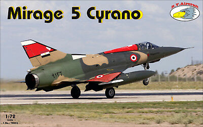 NEU !!! RV Aircraft 1/72 Mirage 5 Cyrano plastic kit