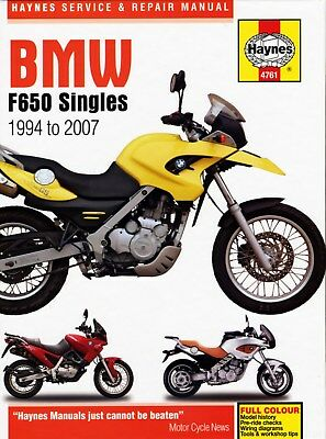 4761 Haynes BMW F650 Singles 1994 - 2007 Workshop Manual