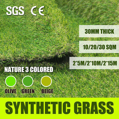 10/20/30SQM SyntheticTurf Artificial Grass Plastic Plant Fake Lawn Flooring 30mm
