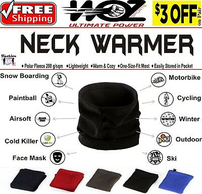 Winter Warm Fleece Snood Scarf Men Women Neck Warmer Ski Balaclava Beanie Hat