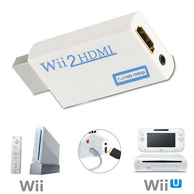 HDMI Adapter Converter For Wii Audio Video Output Full HD 720P 1080P HDTV. 0224