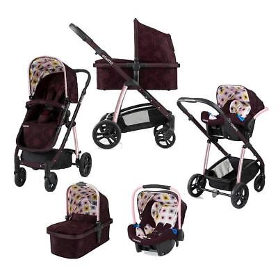Brand new Cosatto Wow Pram and pushchair Posy with Port Car seat & Raincover