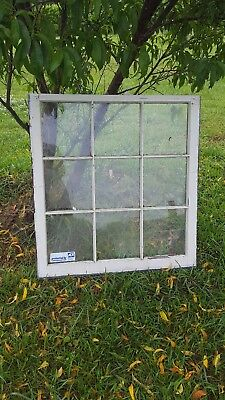 Architectural Salvage ~ 9 PANE OLD WINDOW SASH FRAME PINTEREST 32x36 with glass