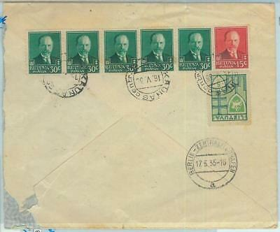 68592 - LITHUANIA - POSTAL HISTORY - STATIONERY COVER to PALESTINE  - 1935