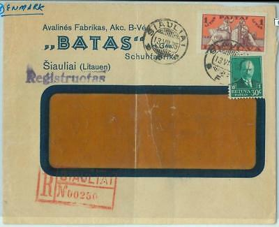68604 - LITHUANIA  - POSTAL HISTORY -  Advertising COVER to DENMARK   1935