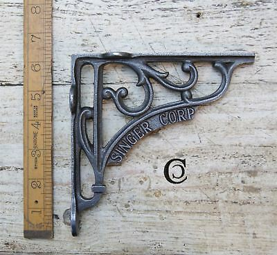 "Rustic Iron Blacksmiths ""Singer Corp"" Shelf Bracket - 150mm x 150mm"